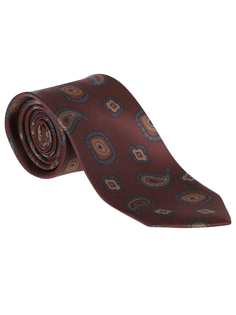 Barba Napoli Brown Silk Tie - Brown