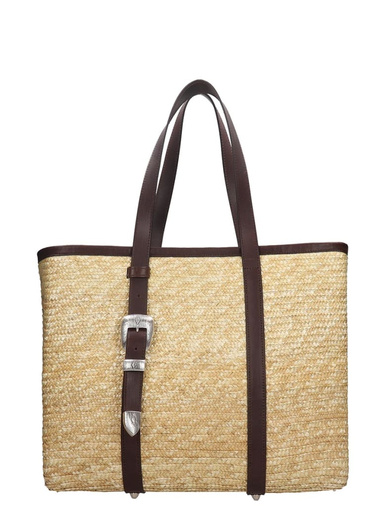 Kate Cate Spina Bag Tote In Brown Silver - brown