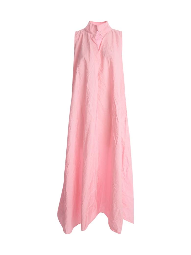 Daniela Gregis Asymmetric Cerw Neck Sleeveless Dress - Fuxia