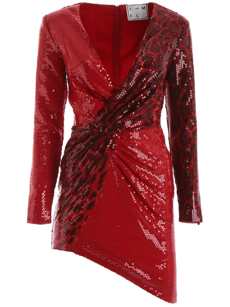 In The Mood For Love Gia Dress - LEOPARD RED (Red)
