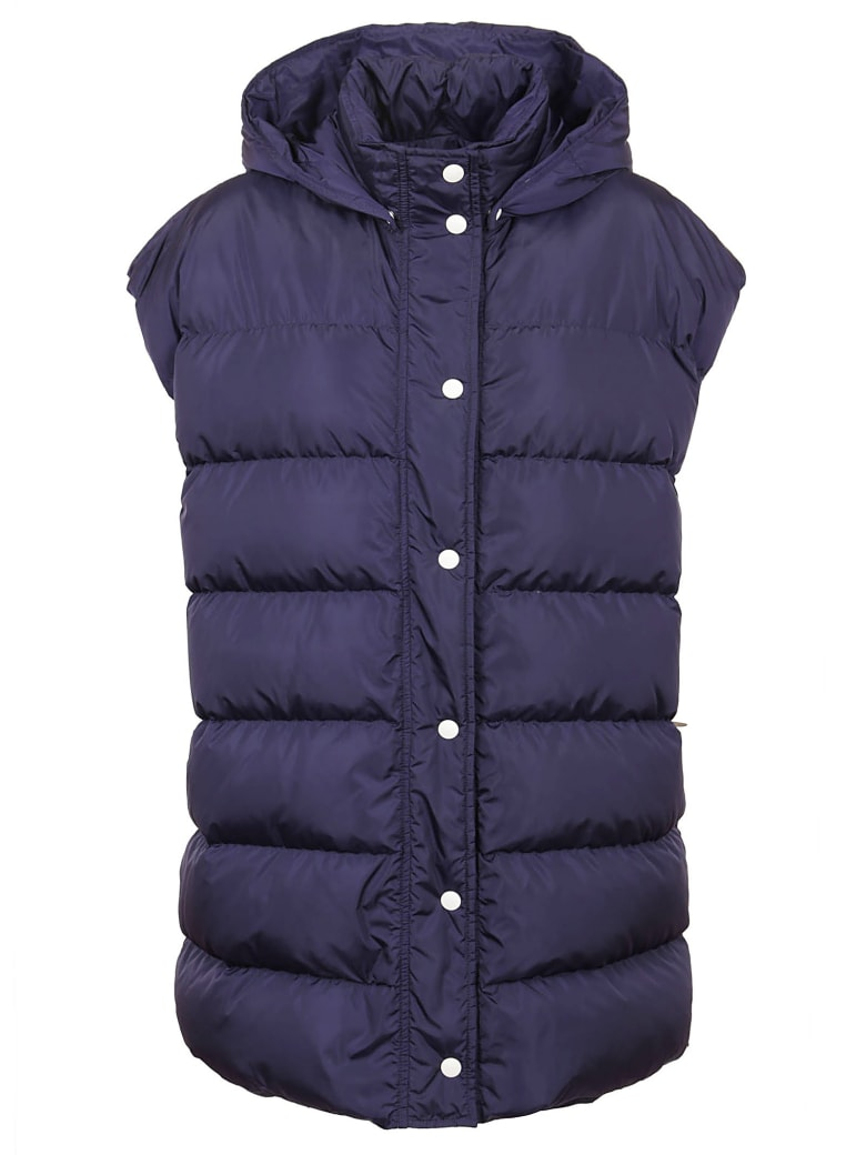 MSGM Giubbino/sleeveless Down Jacket - Navy