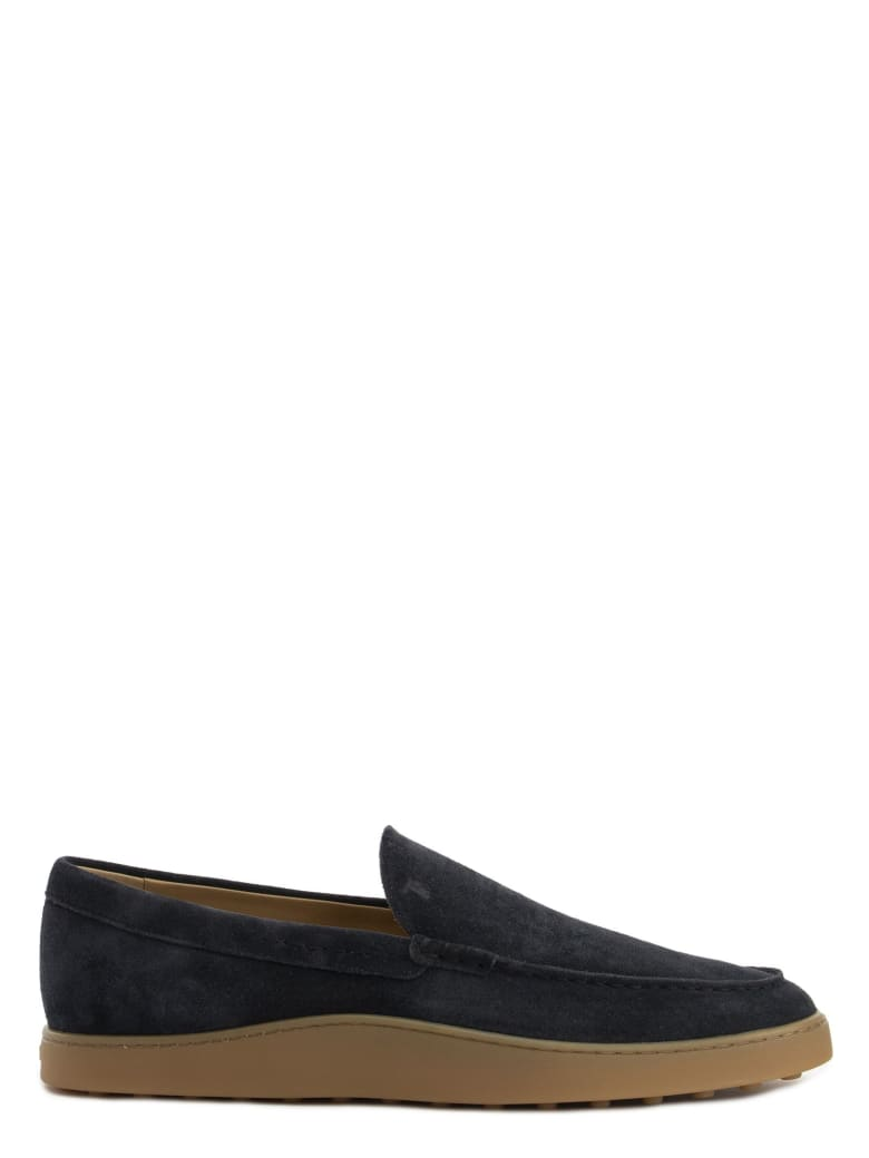 Tod's Slipper Loafers In Suede - Blue
