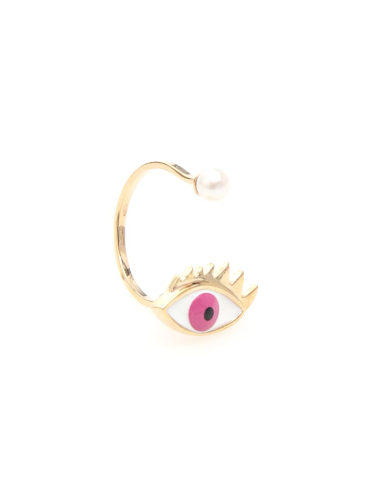 Delfina Delettrez Eye Ring 9kt Gold - PINK (White)