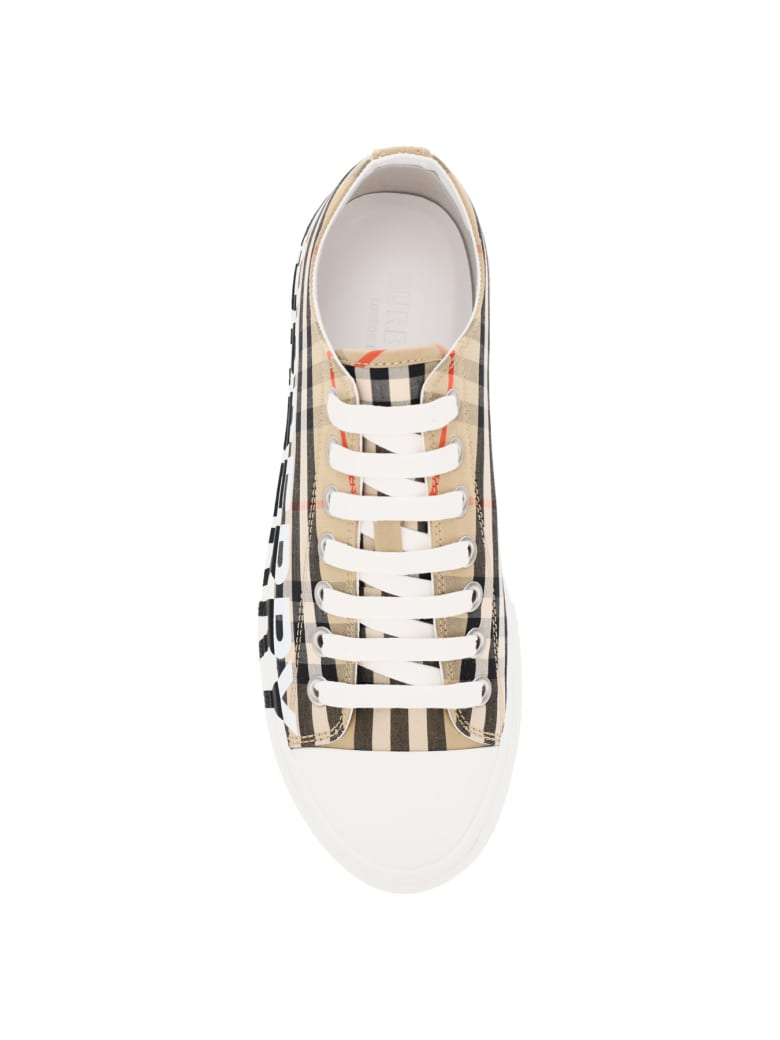 Burberry Larkhall Check Sneakers - Beige