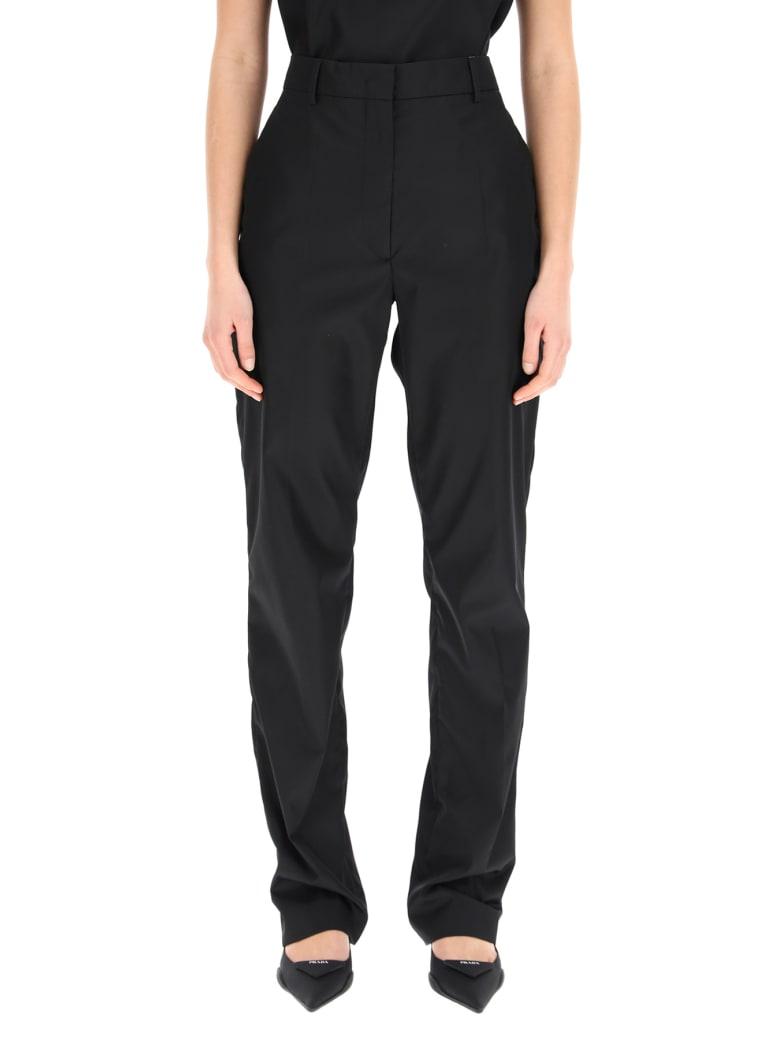 Prada Trousers In Re-nylon Gabardine - NERO (Black)