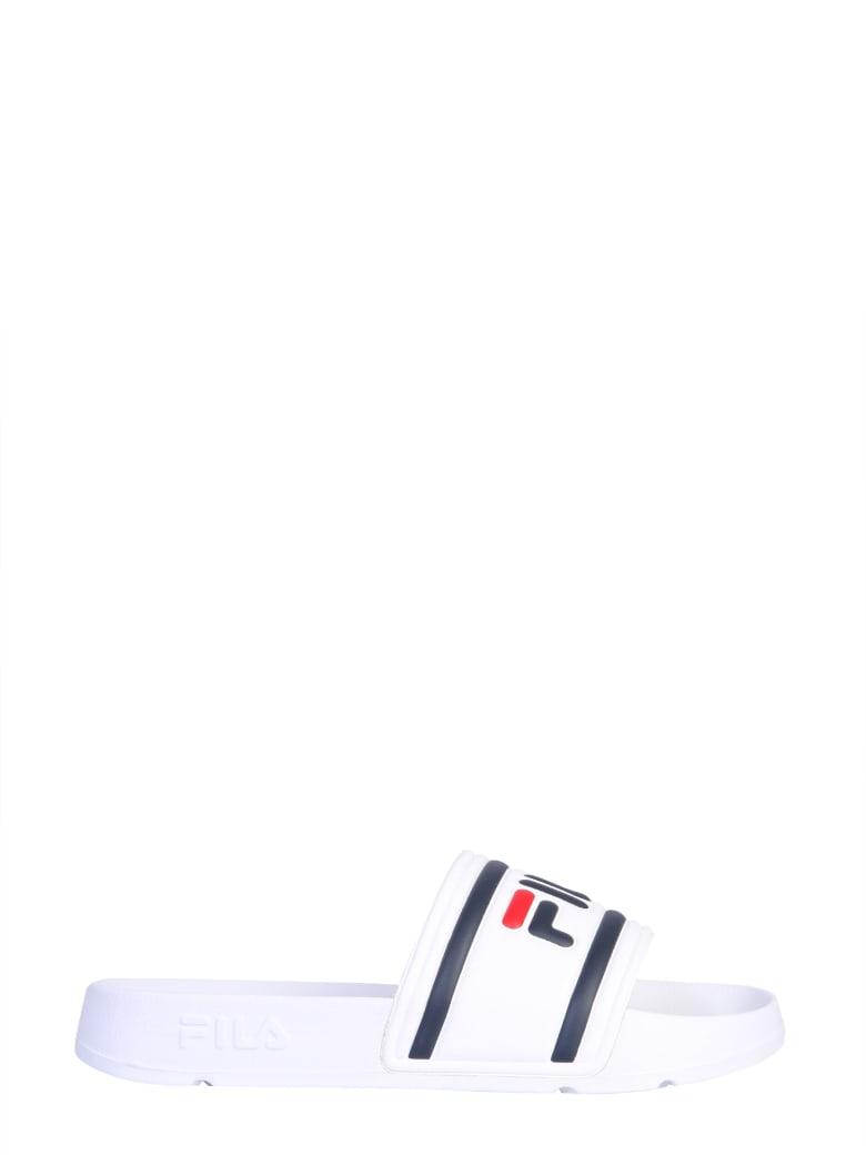 Fila Slide Sandal With Logo - BIANCO