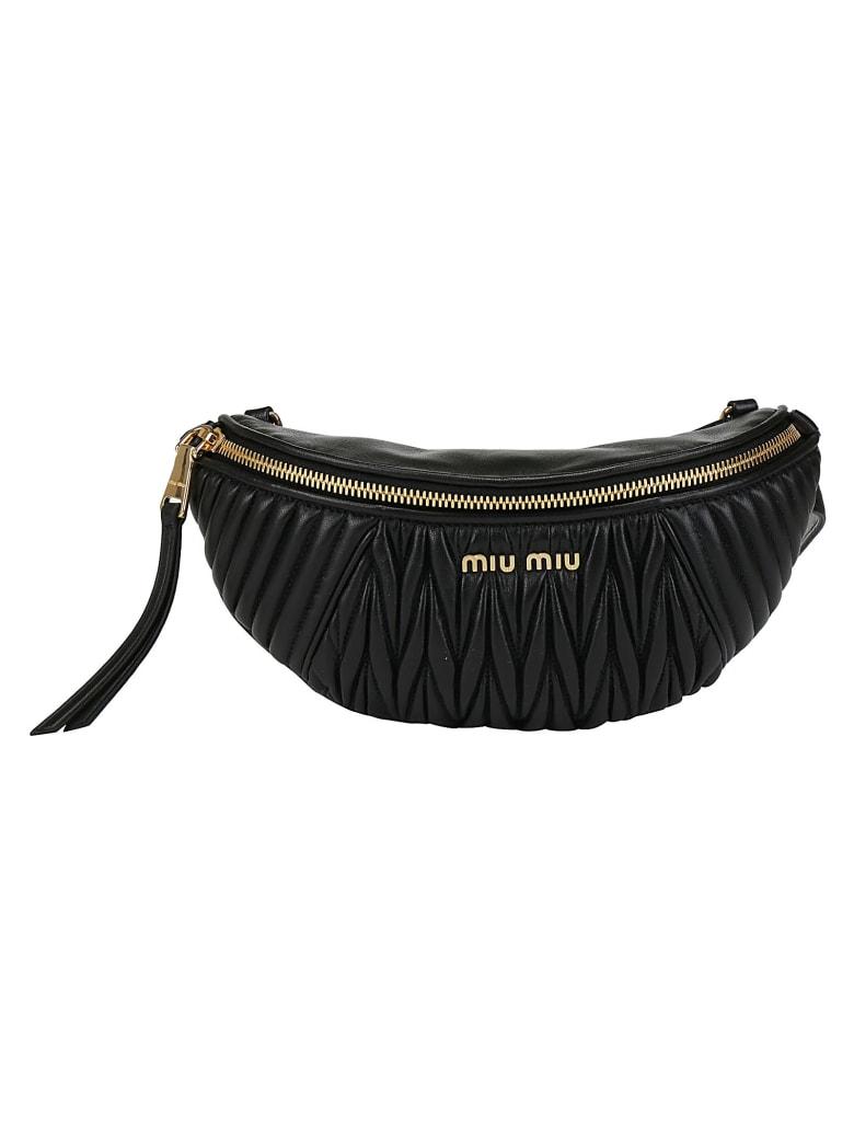 Miu Miu Matelassè Belt Bag - Nero