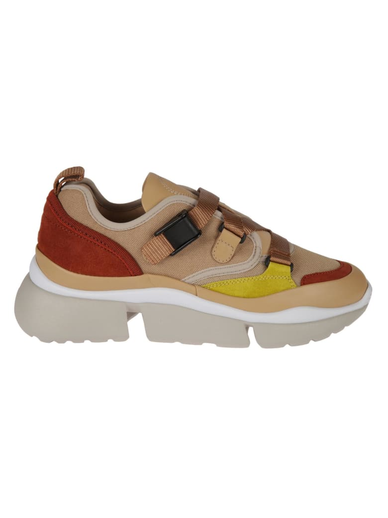 Chloé Western Strapped Sneakers - Maple Pink