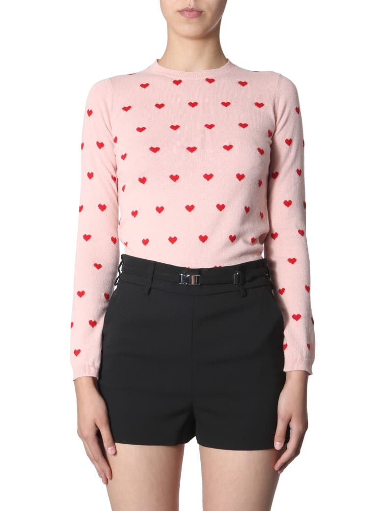 RED Valentino Sweater With Hearts Inlays - ROSA