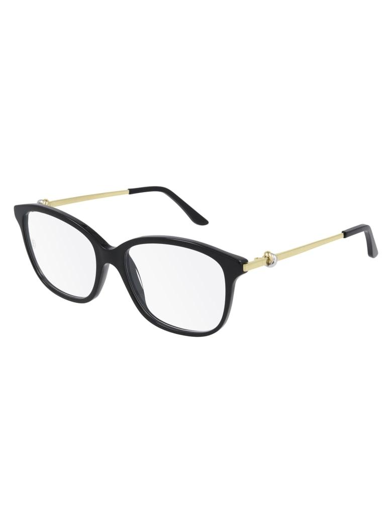Cartier Eyewear CT0258O Eyewear - Black Gold Transparen