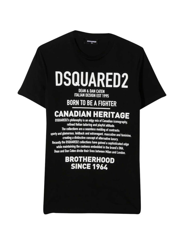 Dsquared2 Teen Black T-shirt - Nero