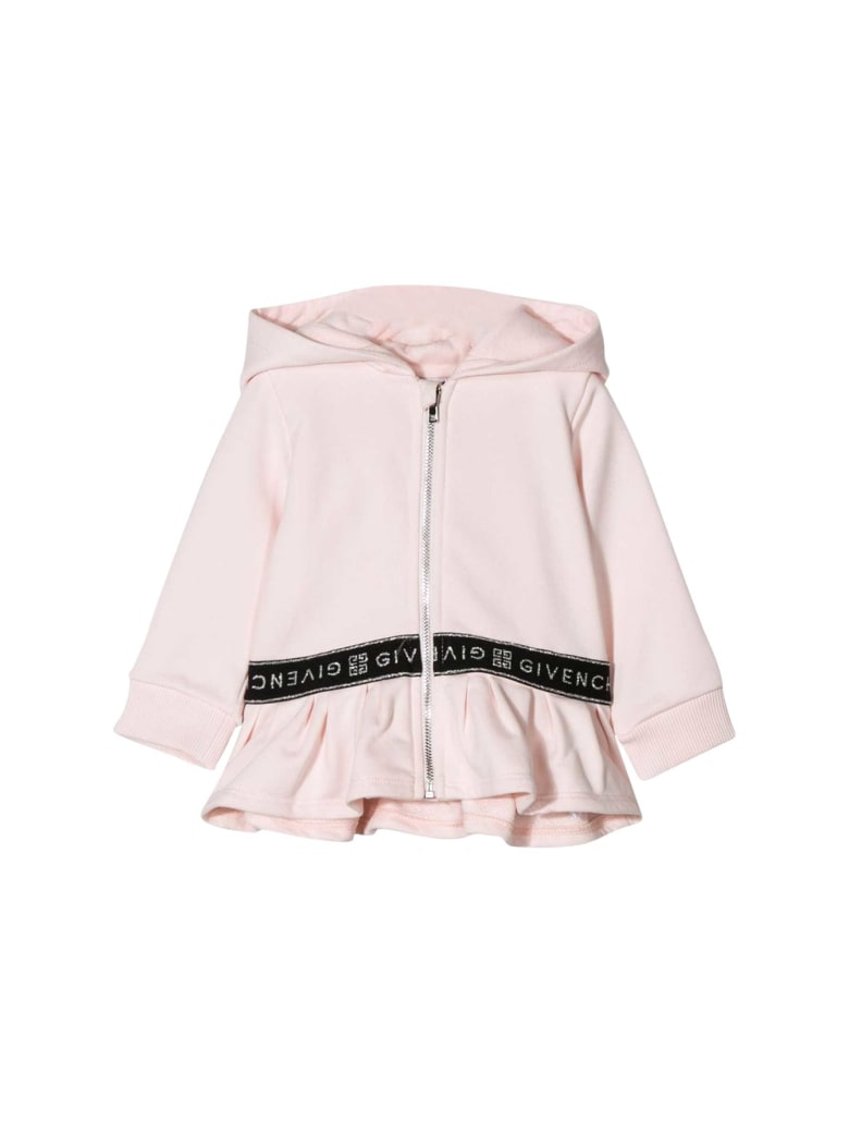 Givenchy Kids Cotton Hoodie - Rosa pallido