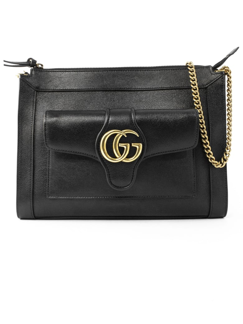 Gucci Black Leather Shoulder Bag - Nero