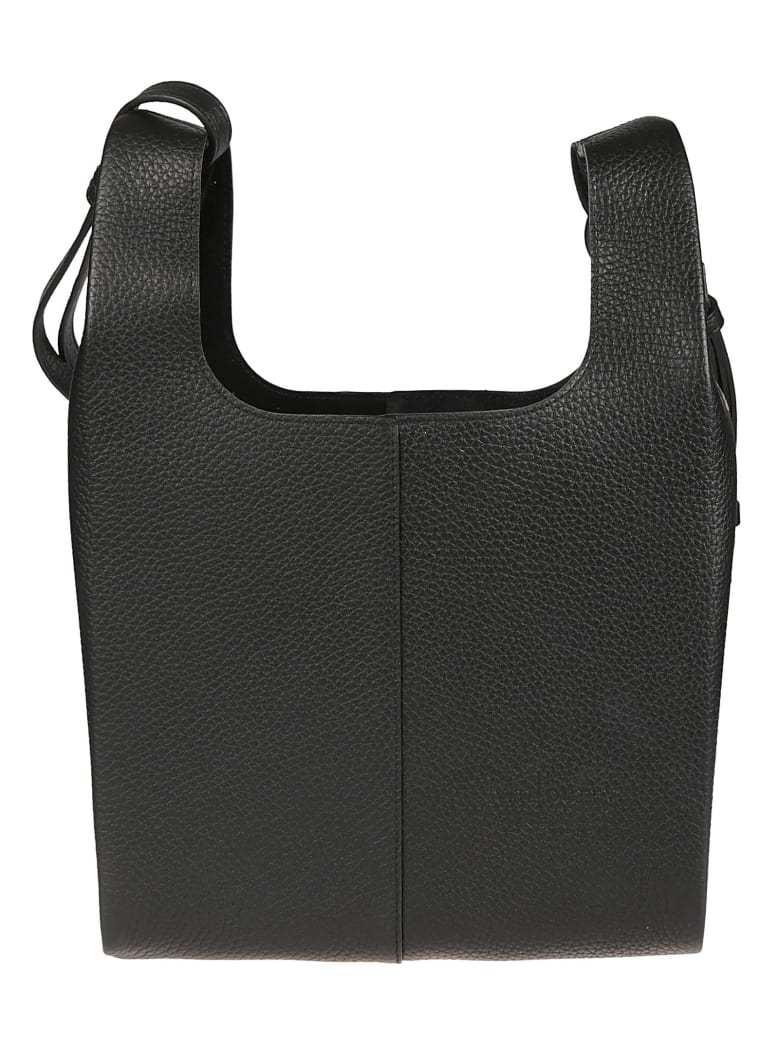 Mulberry Long Strap Detail Small Tote - Black