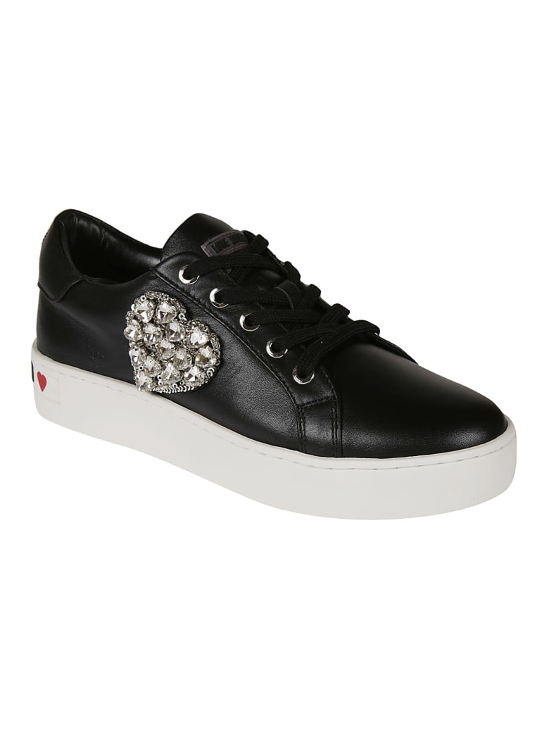 Love Moschino Heart Embellished Sneakers - Black