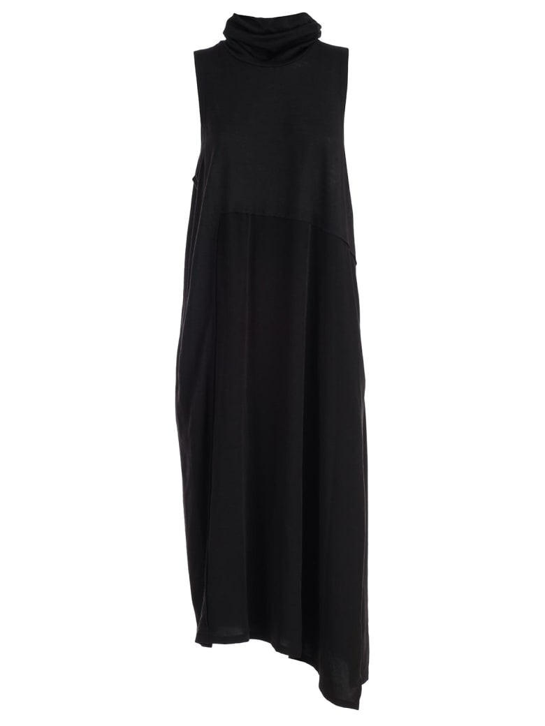Y's Dress W/s High Neck - Black