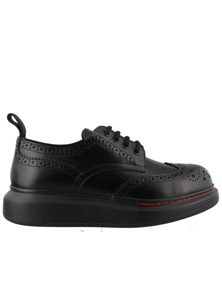 Alexander McQueen Hybrid Laced Up Shoes - Black