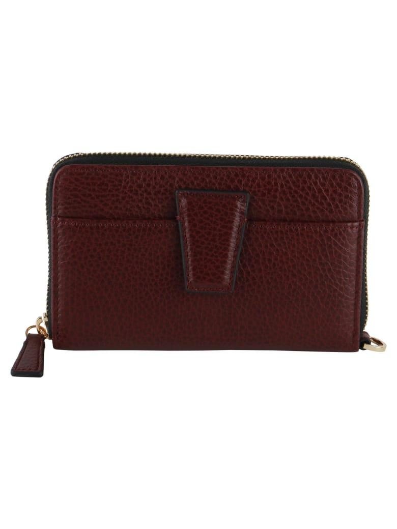 Gianni Chiarini Merlot Grained Leather Wallet - BORDEAUX