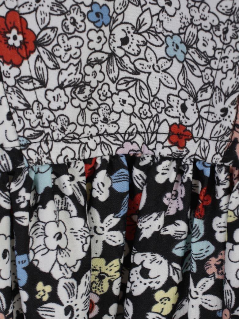 See by Chloé Fantasy V Neck L/s Long Dress - Multicolore
