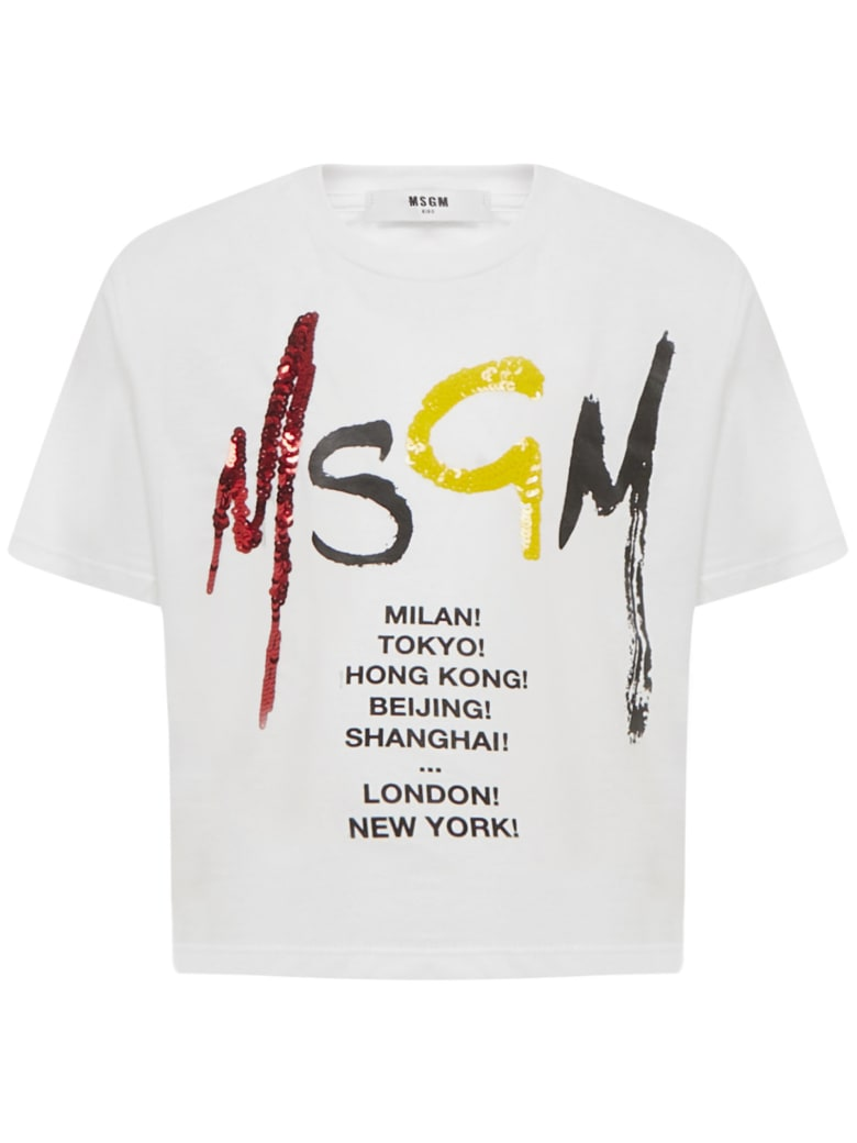 MSGM Kids T-shirt - White