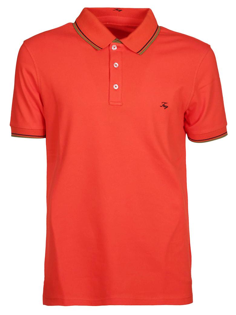 Fay Embroidered Logo Polo Shirt - Arancio Scuro