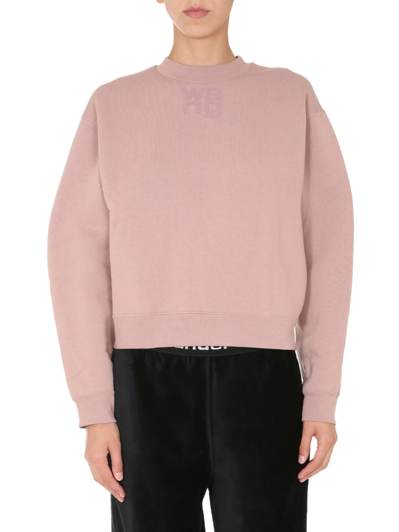 T by Alexander Wang Regular Fit Sweatshirt - ROSA
