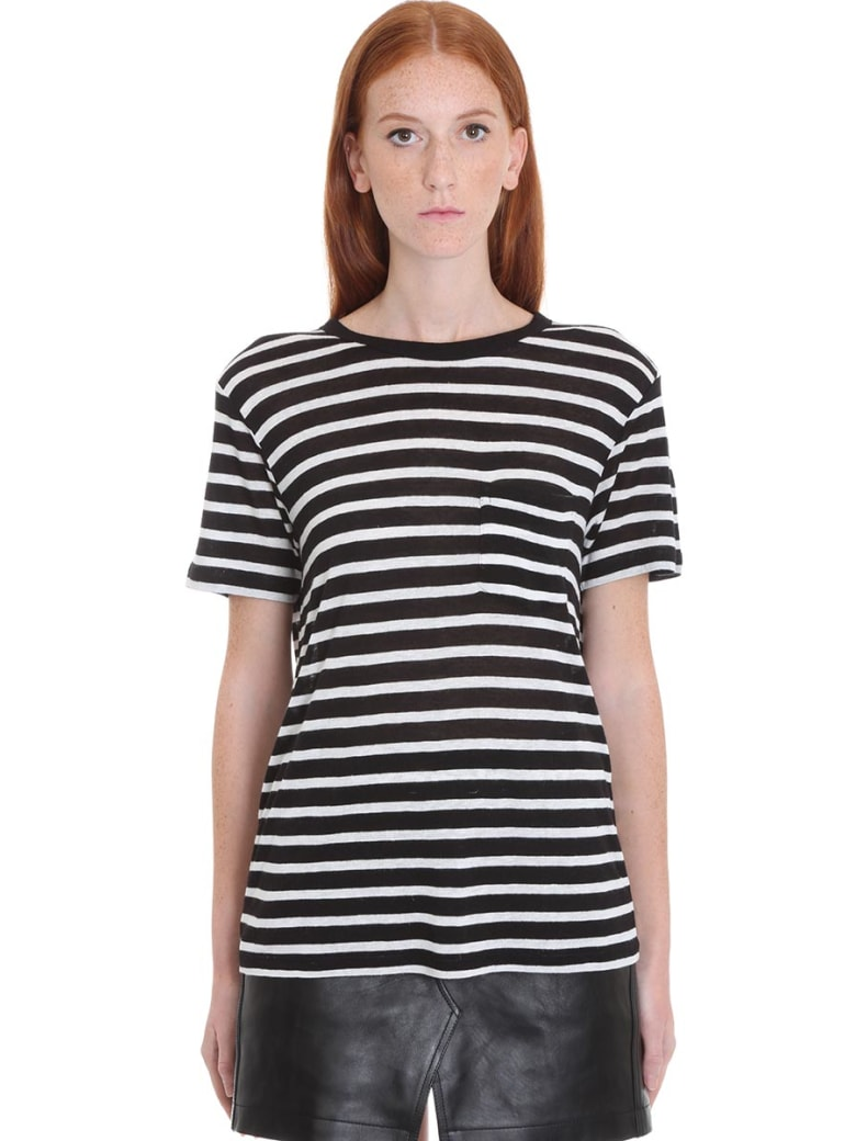 T by Alexander Wang T-shirt In Black Viscose - black