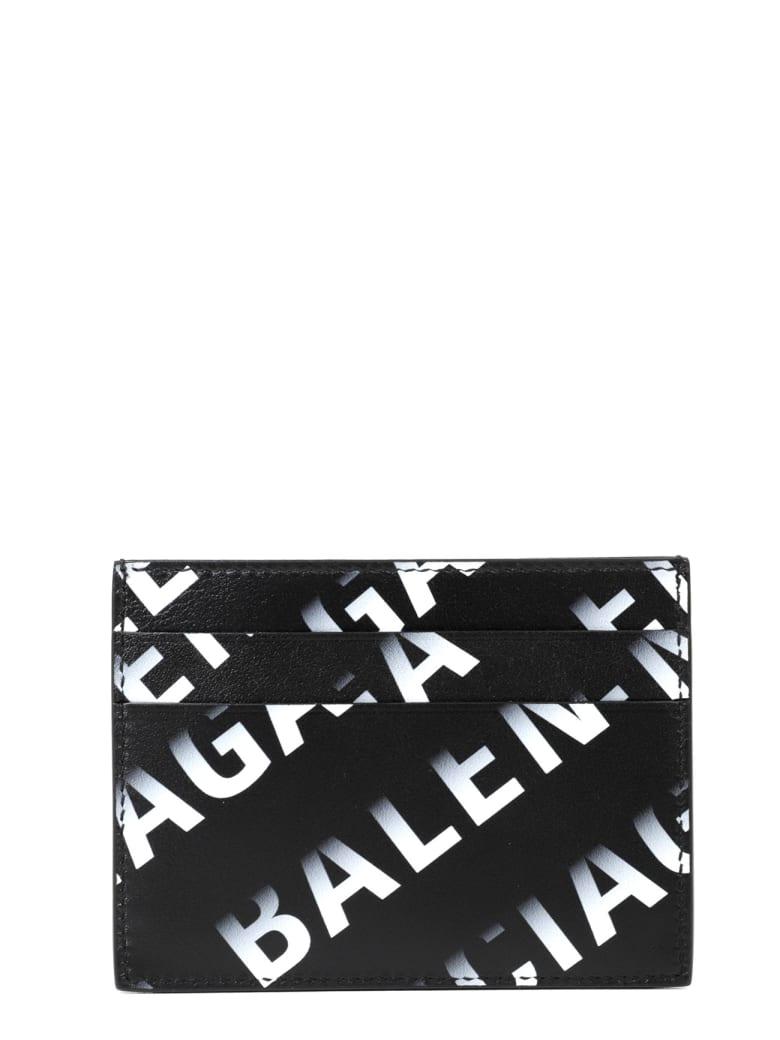 Balenciaga Black Card Holder - Nero/grigio