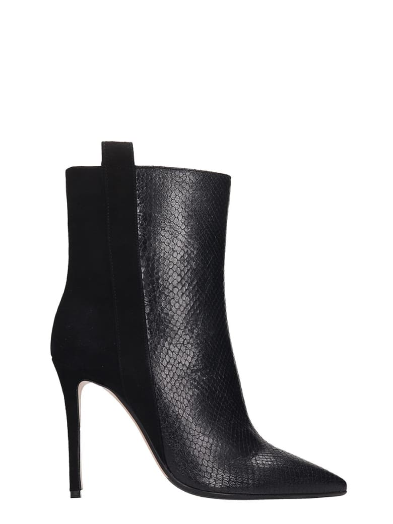 The Seller Ankle Boots In Black Suede And Leather - black