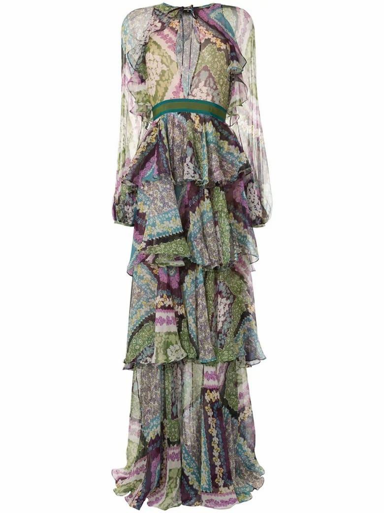 Dsquared2 Multicoloured Silk Blend Dress - Fantasia
