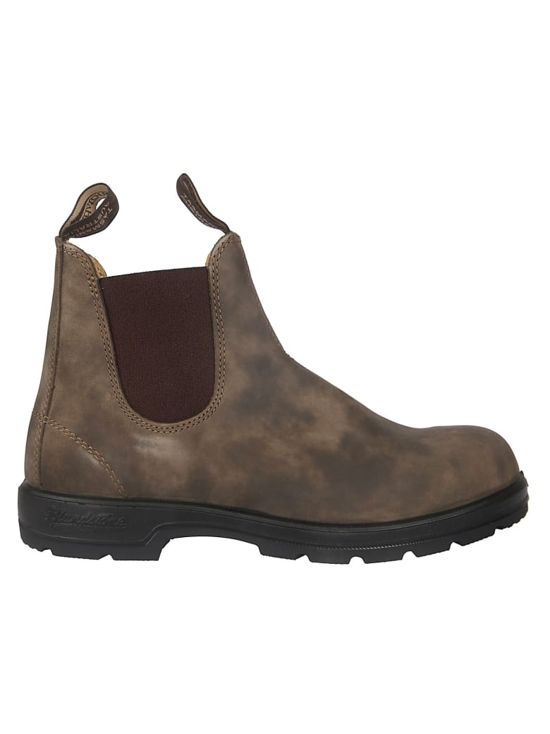 Blundstone Lined Elastic Side Boots - Brown