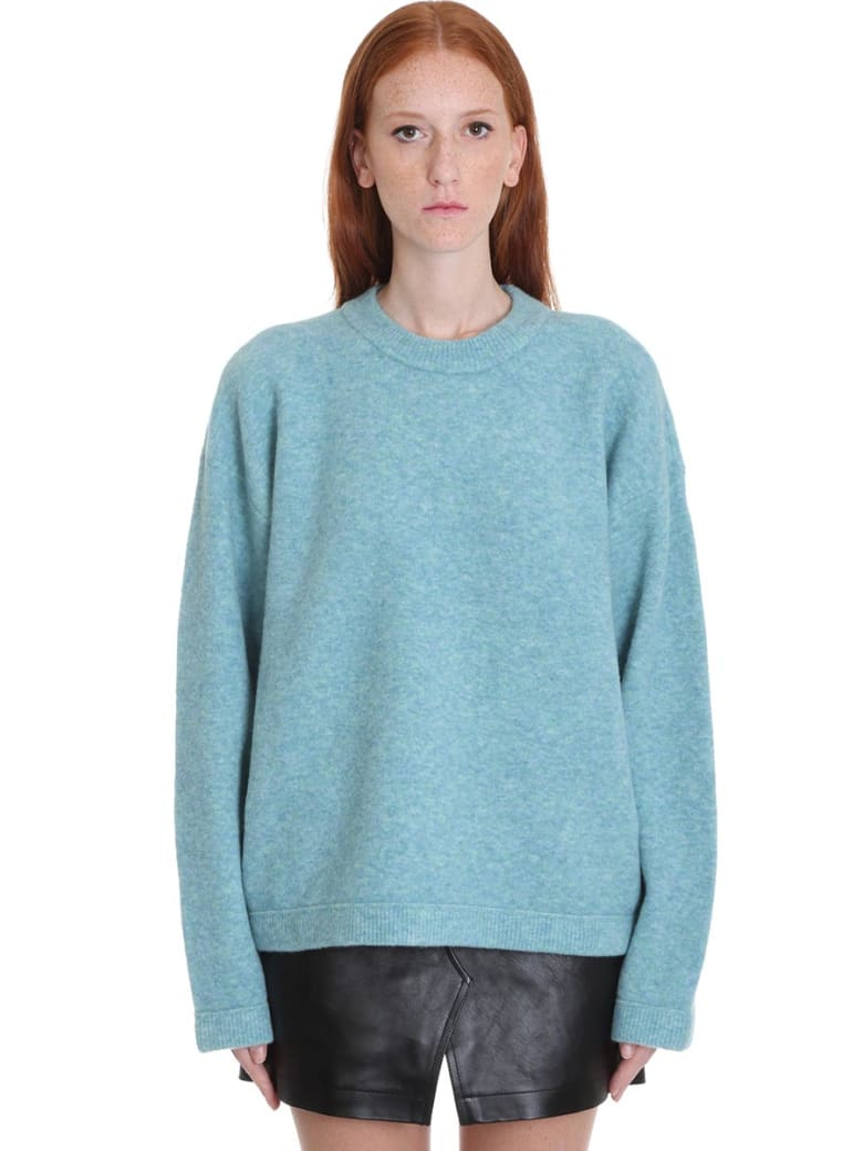 T by Alexander Wang Knitwear In Green Wool - green
