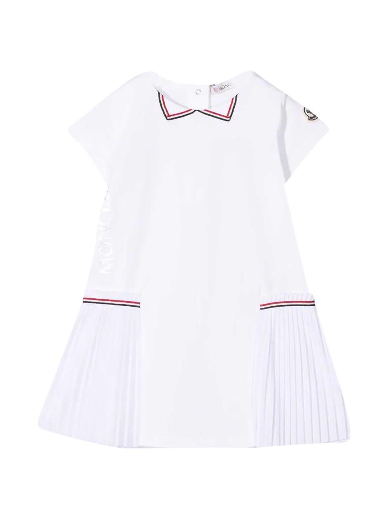 Moncler White Flared Dress - Bianco
