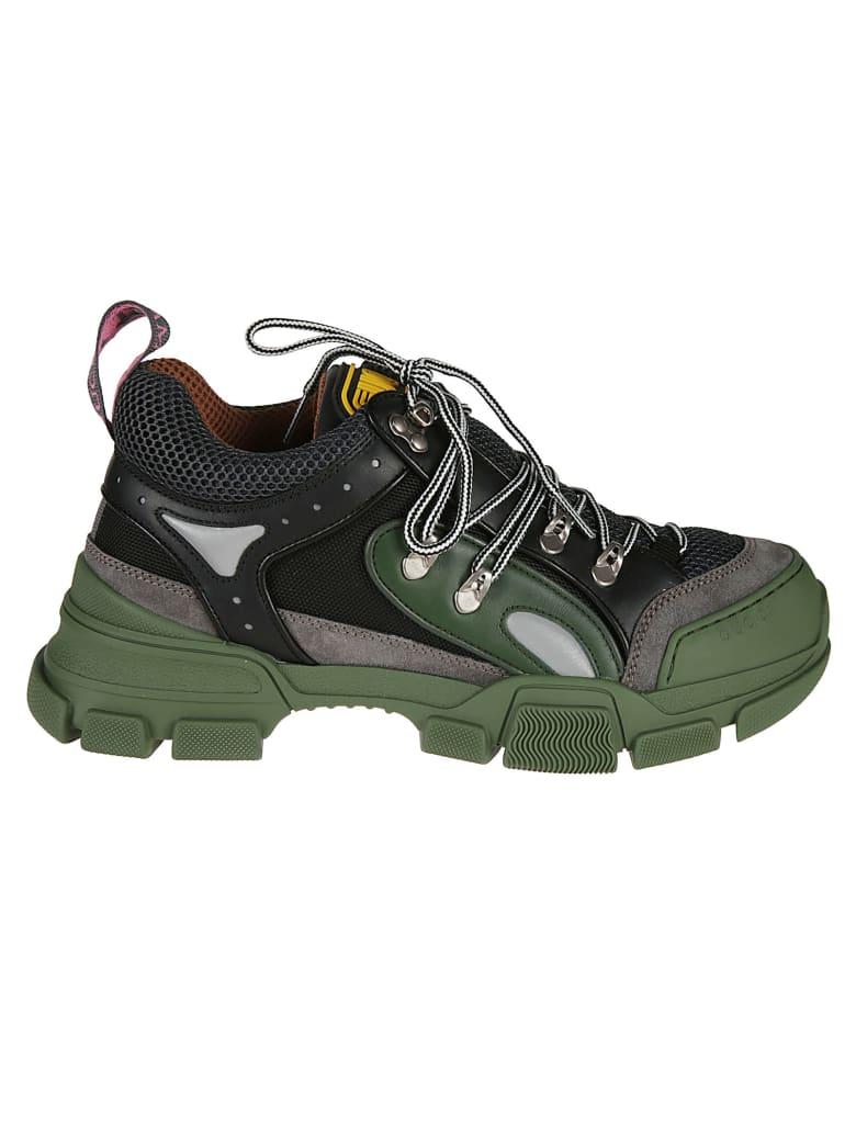 Gucci Mesh Panel Sneakers - grey