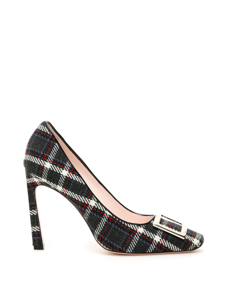 hot products another chance detailed look Best price on the market at italist | Roger Vivier Roger Vivier Tartan  Belle Vivier 100 Pumps
