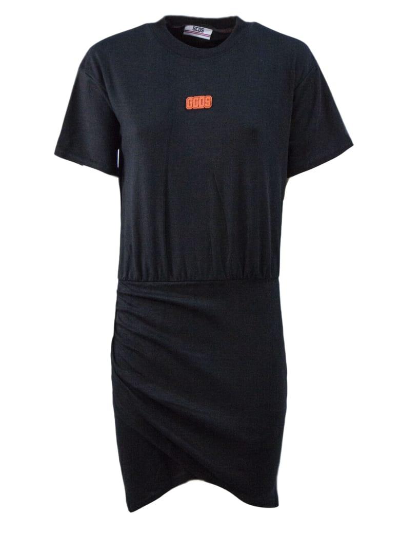GCDS Black Cotton Dress - Nero