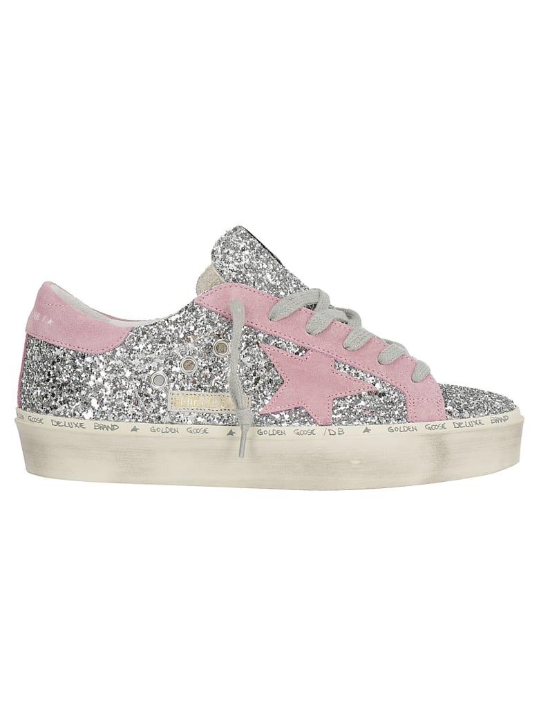 Golden Goose Hi Star Sneakers - Silver/pink