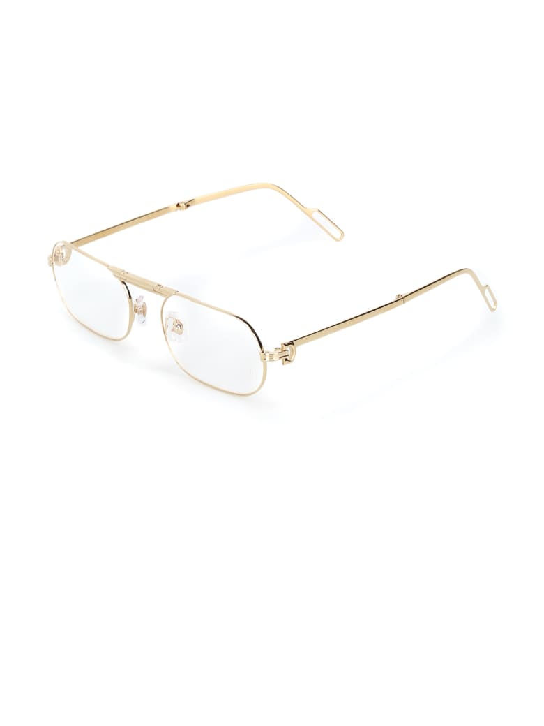 Cartier Eyewear CT0115O Eyewear - Gold Gold Transparent