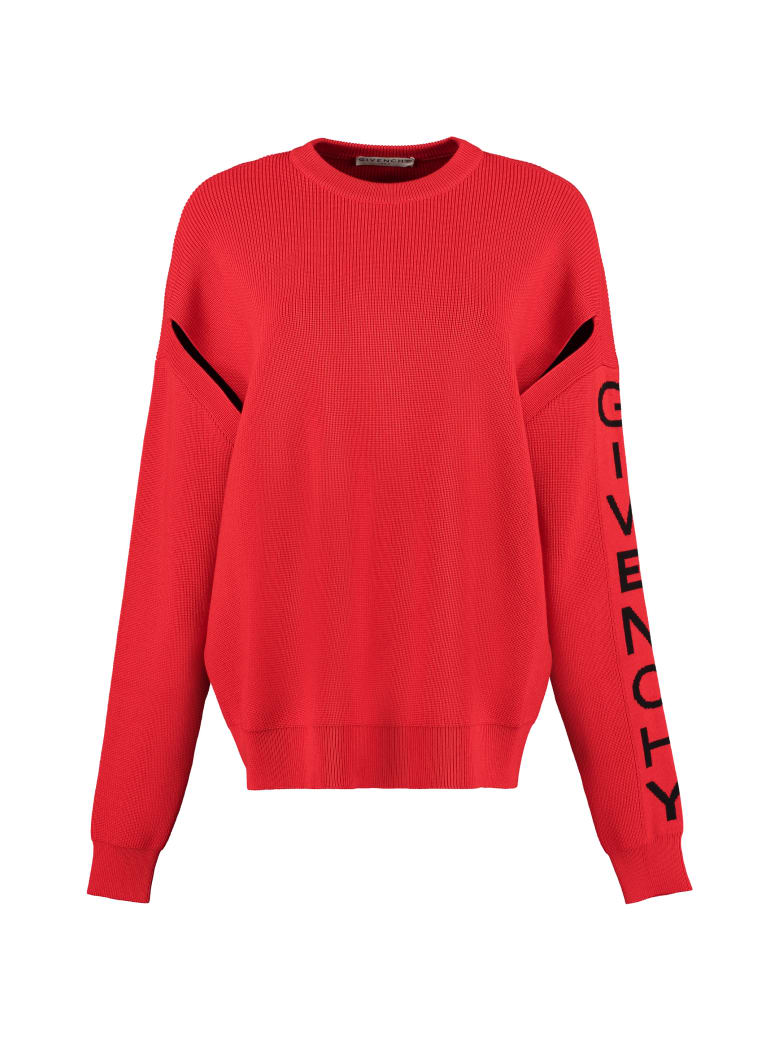 Givenchy Wool Crew-neck Pullover - red