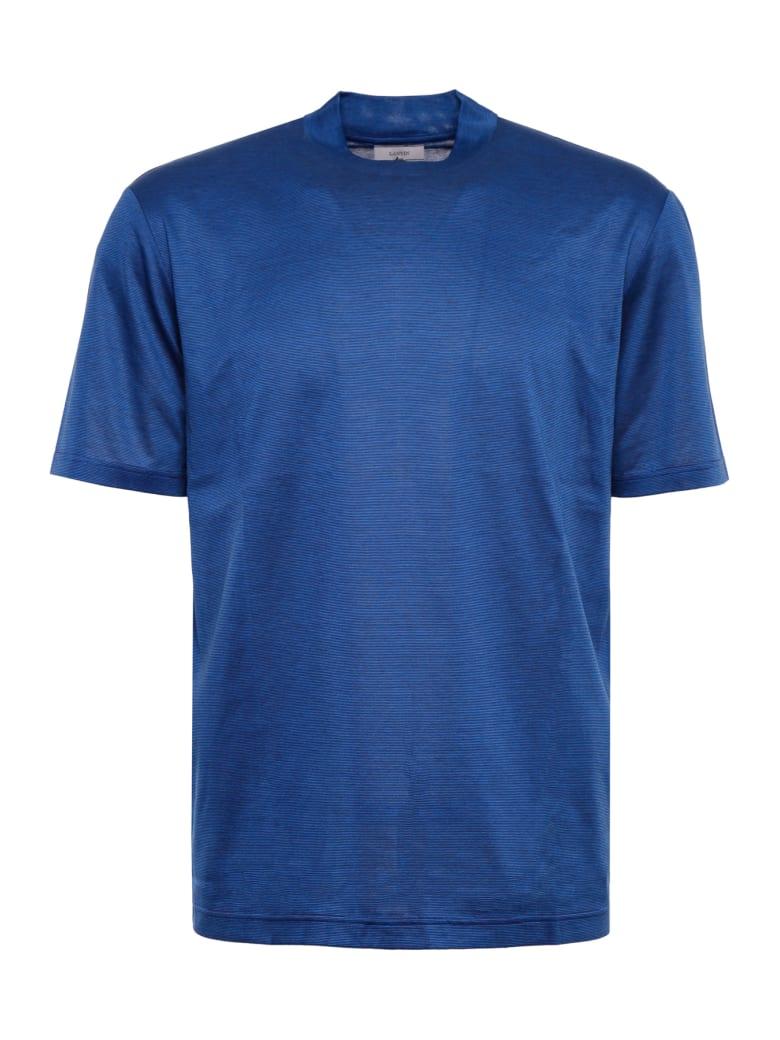 Lanvin Striped Cotton T-shirt - DARK BLUE/BLUE (Blue)