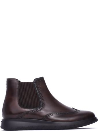 Fratelli Rossetti One Beatles Ankle Boots In Dark Brown Calf Leather