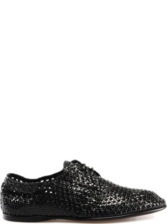Dolce & Gabbana Perforated Rattan Lace-up Shoes