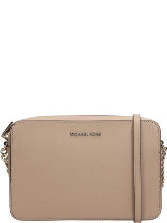 Michael Kors Taupe Leather Lg Ew Bag