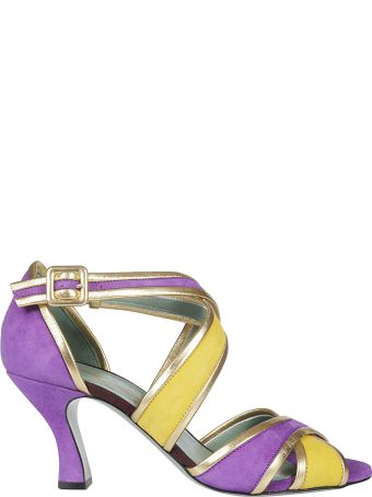 Paola D'Arcano Cross Straps Sandals