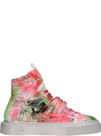 Gienchi Multicolor Patent Leather Hypnos Art Sneakers