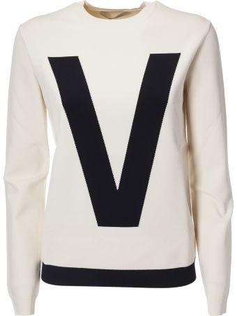Valentino Two-tone Logo Sweater