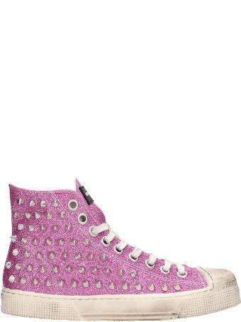 Gienchi Fuchsia Glitter Jean Michel Sneakers