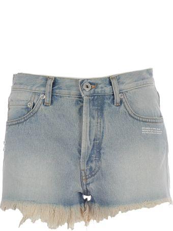 Off-White Frayed Denim Shorts
