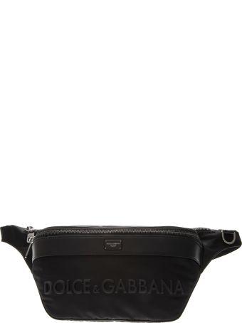 Dolce & Gabbana Mediterranean Black Nylon Pouch
