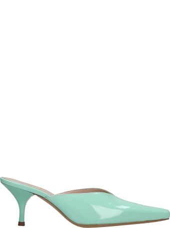 Kalda Alba Sandals In Green Leather